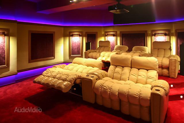 Mẫu phòng chiếu phim gia đình cao cấp - hình 3