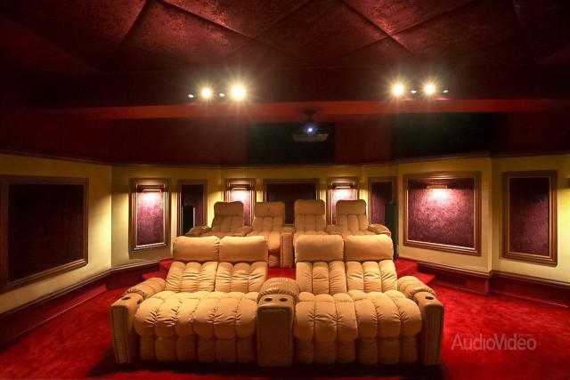 Mẫu phòng chiếu phim gia đình cao cấp - hình 10