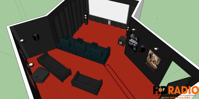 Hình ảnh thiết kế rạp chiếu phim gia đình A Tú TP Hạ Long -  Quảng Ninh - Hình 1