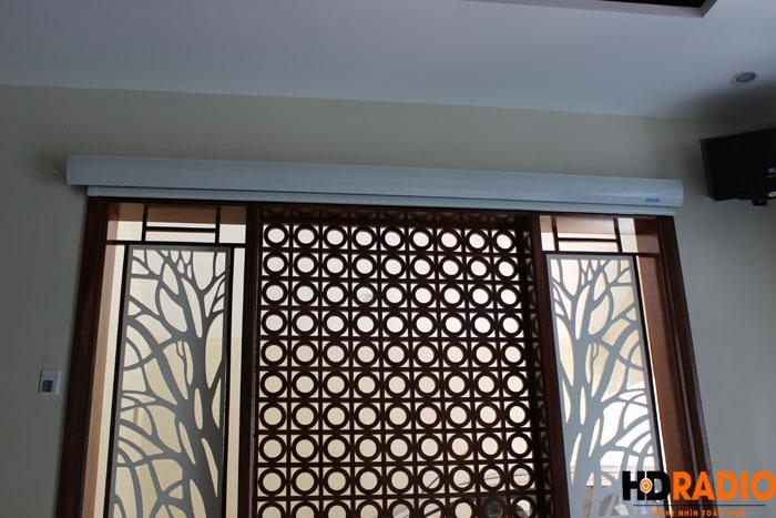 Biến phòng khách thành phòng chiếu phim gia đình A Dũng Biệt Thự Cầu Tó - Hà Nội - Hình 2