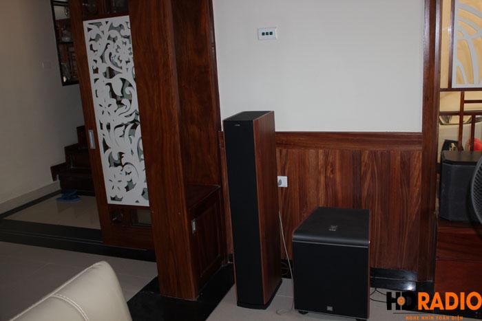 Biến phòng khách thành phòng chiếu phim gia đình A Dũng Biệt Thự Cầu Tó - Hà Nội - Hình 4