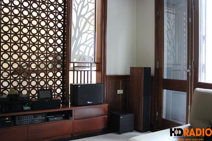 Biến phòng khách thành phòng chiếu phim gia đình A Dũng Biệt Thự Cầu Tó - Hà Nội - Hình 9