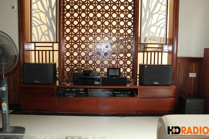 Biến phòng khách thành phòng chiếu phim gia đình A Dũng Biệt Thự Cầu Tó - Hà Nội - Hình 13