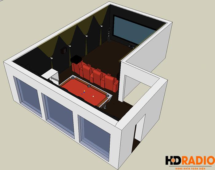 Lắp đặt phòng chiếu phim gia đình A Tuấn Anh - TP Vinh, Nghệ An - Hình 1