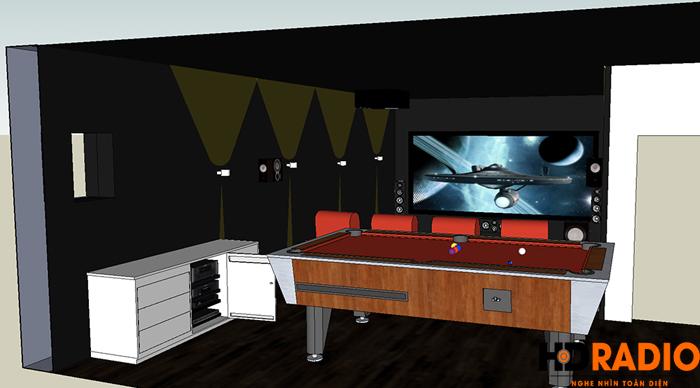 Lắp đặt phòng chiếu phim gia đình A Tuấn Anh - TP Vinh, Nghệ An - Hình 3