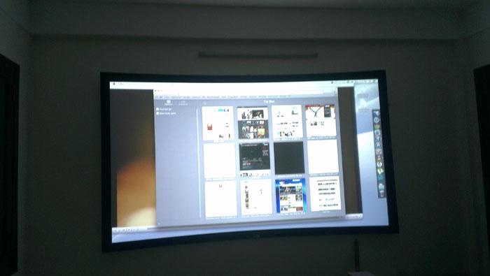 Lắp đặt Phòng chiếu phim 3D gia đình - BenQ MH680 kết hợp màn cong 120 inch