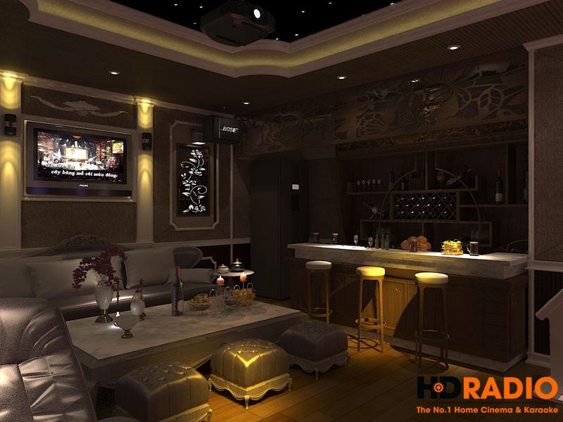 Thiết kế phòng chiếu phim gia đình - Hình 4