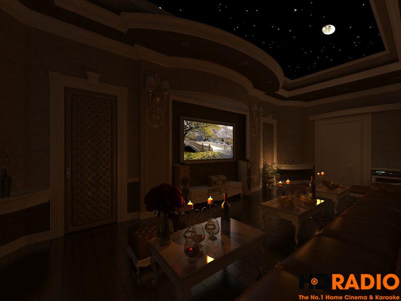 Mẫu phòng chiếu phim gia đình cao cấp - hình 2