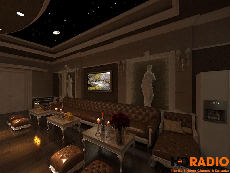 Mẫu phòng chiếu phim gia đình cao cấp - hình 7