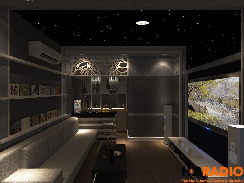 Thiết kế phòng chiếu phim gia đình đơn giản - Hình 2