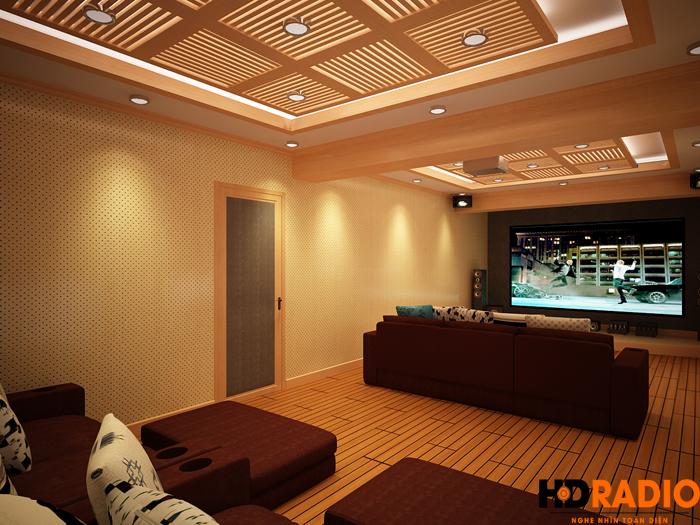 Thiết kế phòng chiếu phim gia đình Tại Mỹ Đình