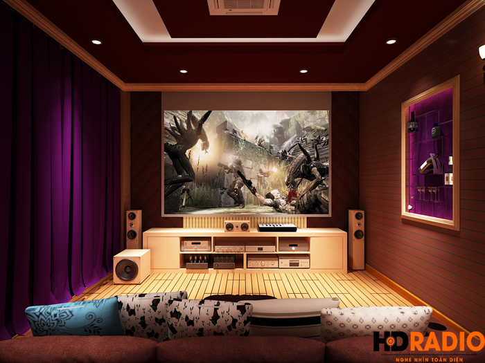 Thiết kế phòng chiếu phim khu biệt thự vinhomes