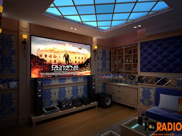 thiết kế phòng chiếu phim 3D gia đình tại trần duy hưng hà nội