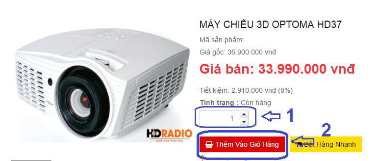 Hướng dẫn đặt hàng online tại kênh mua hàng HDradio.vn