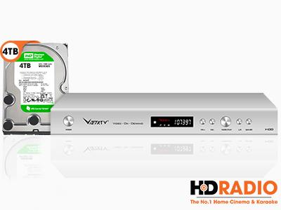 Đầu Karaoke Việt KTV HD Plus và Ổ Cứng 4TB