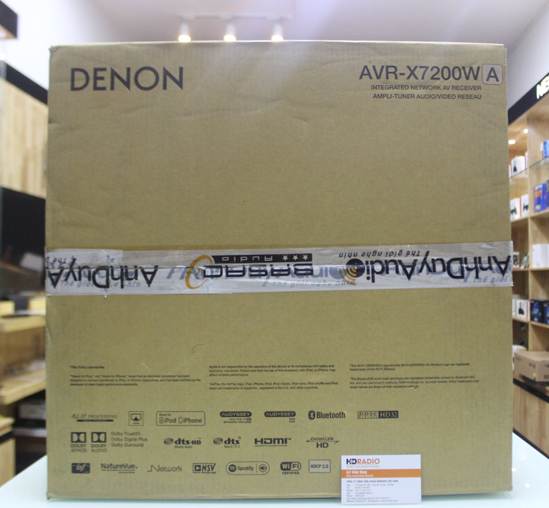 Mặt trên vỏ hộp Amply Denon AVR-X7200WA