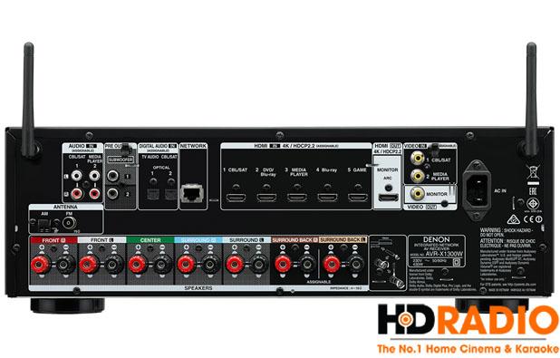 Mặt sau Amply Denon AVR-X1300W