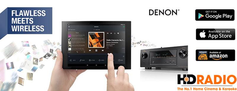 Amply Denon AVR X2300W hỗ trợ điều khiển qua điện thoại