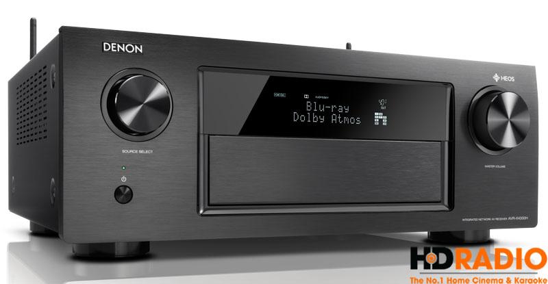 Thể hiện âm thanh Dolby Atmos trên màn hình hiển thị Amply Denon AVR-X4000H