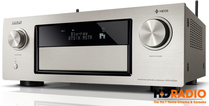 Amply Denon AVR-X4000H với màu xám.
