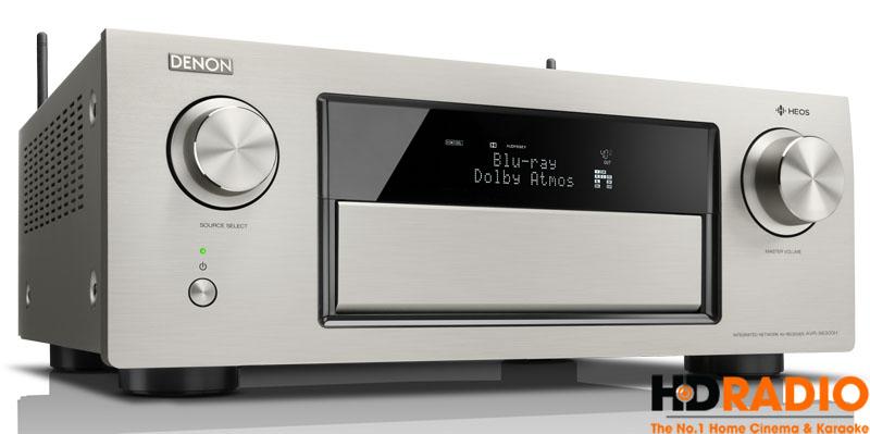 Amply Denon AVR-X6000H với màu xám