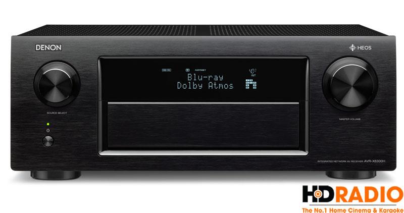 Thể hiện âm thanh Dolby Atmos trên màn hình LED phía trước Amply Denon AVR-X6000H