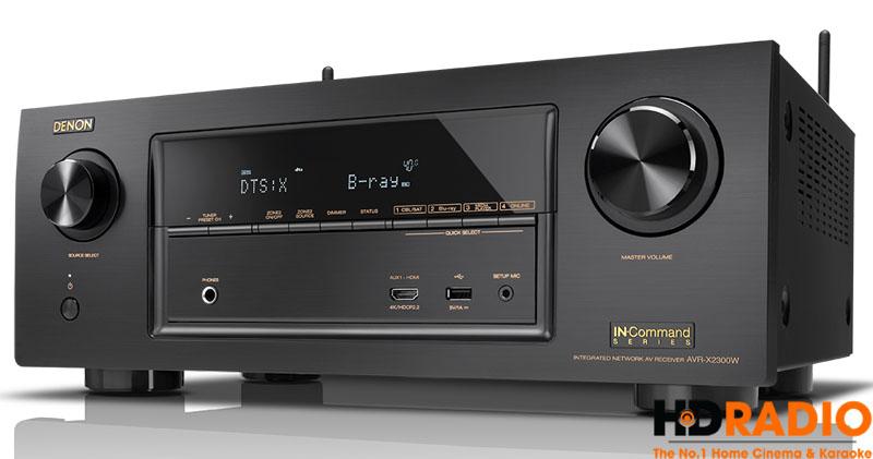 Màn hình Amply Denon AVR-X2300W hiển thị chuẩn âm thanh DTS:X - chuẩn âm thanh cạnh trạnh với Dolby Atmos & Auro 3D