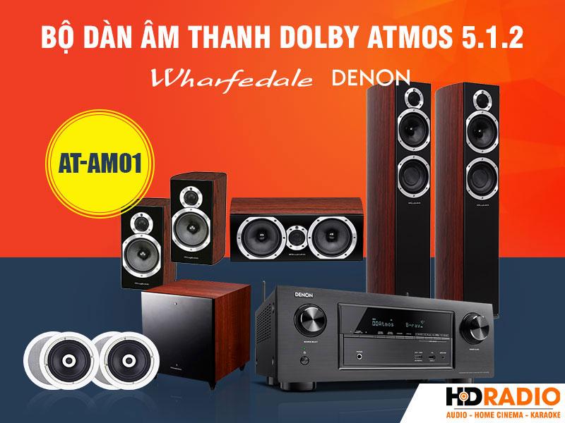 Bộ dàn âm thanh Dolby Atmos 5.1.2 AT-AM01