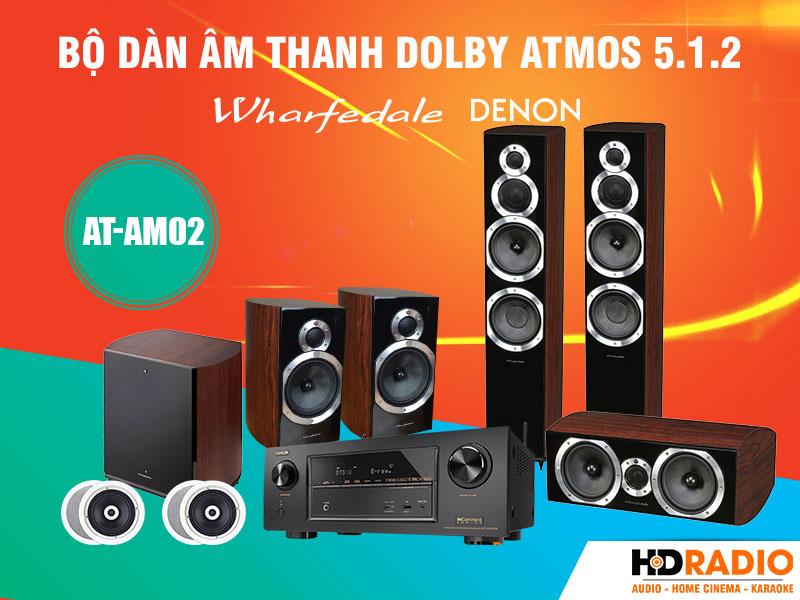 bộ dàn âm thanh Dolby Atmos 5.1.2 AT-AM02