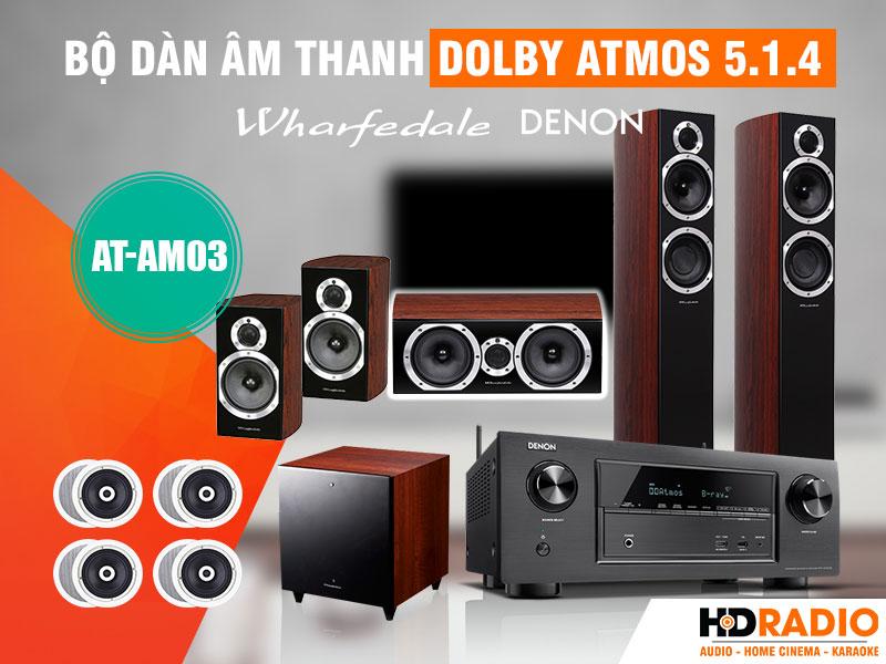 Bộ dàn âm thanh Dolby Atmos 5.1.4 AT-AM03