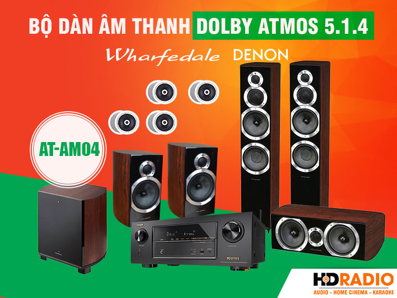 Bộ dàn âm thanh Dolby Atmos 5.1.4 AT-AM04