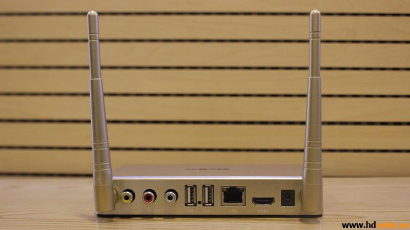 Android TV Box Homax T6 - mặt sau