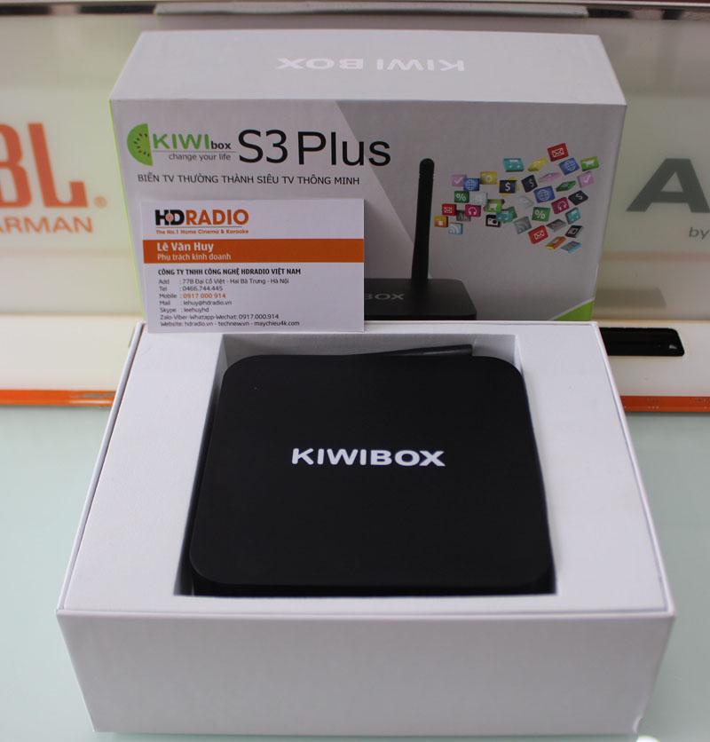 Khi mở hộp TV Box Kiwibox S3 Plus