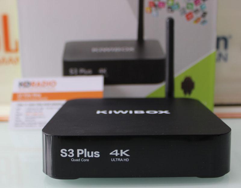 Mặt trước TV Box KiwiBox S3 Plus