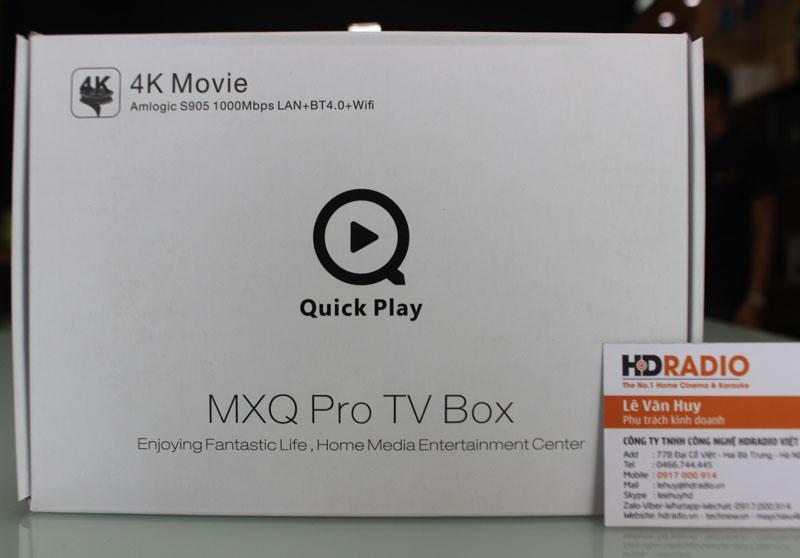 Mặt trước vỏ hộp TV Box MXQ PRo