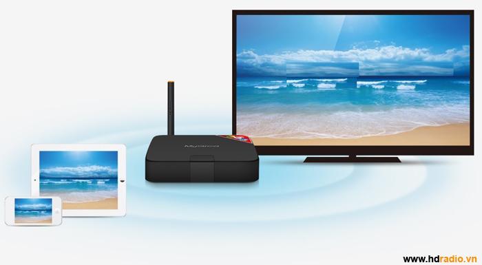 Chia sẻ Truyền hình trực tiếp từMYGICA ATV586lên smartphone và máy tính bảng
