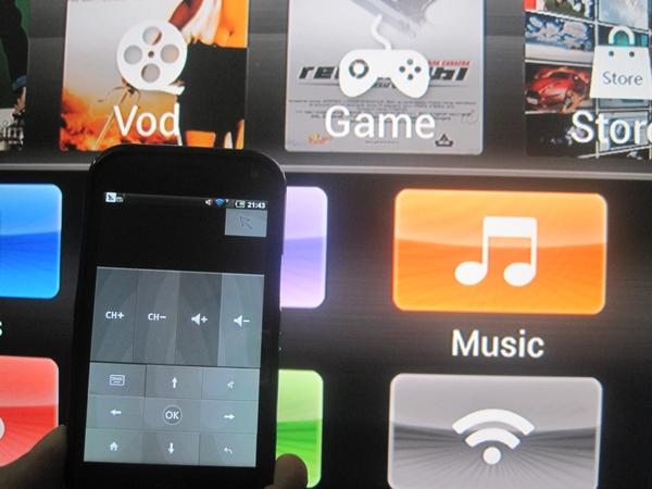 Hỗ trợ điều khiển bằng Adroid Smart Phone