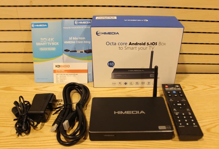 Chọn bộ sản phẩm Himedia H8 với đầy đủ phụ kiện