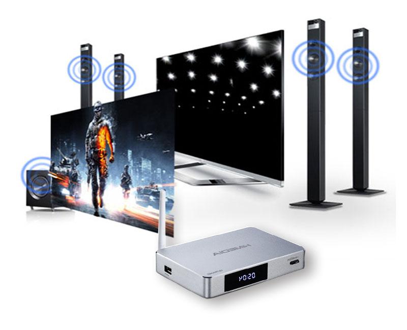 Himedia Q5 Pro hỗ trợ âm thanh DTS TrueHD 7.1