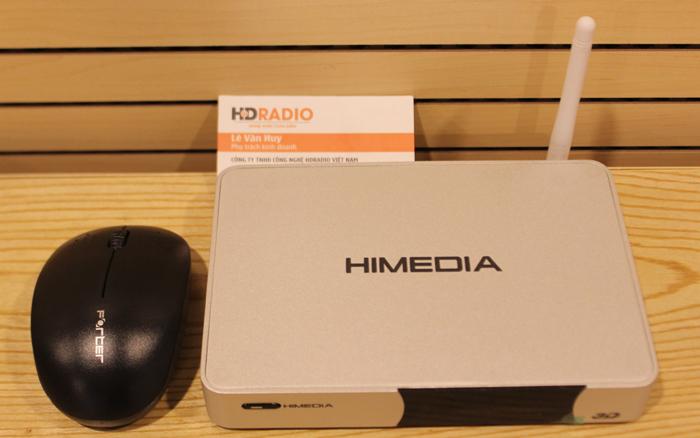 Android tv box HIMEDIA Q5IV + chuột quang không dây forter