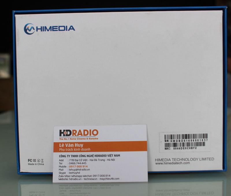 Mặt sau vỏ hộp HiMedia Q5 Pro