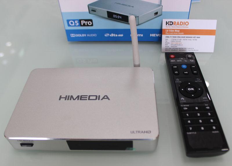 Chụp HiMedia Q5 Pro từ phía trên xuống.