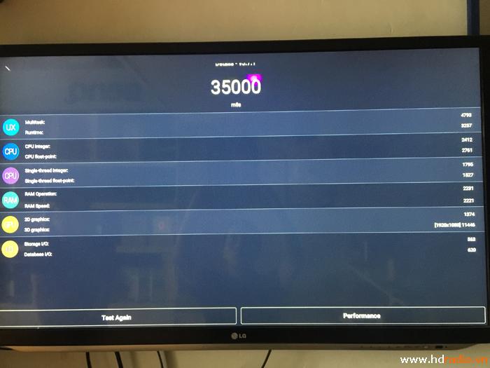 Đánh giá Android tv box M8S+ qua Antutu Benmarch