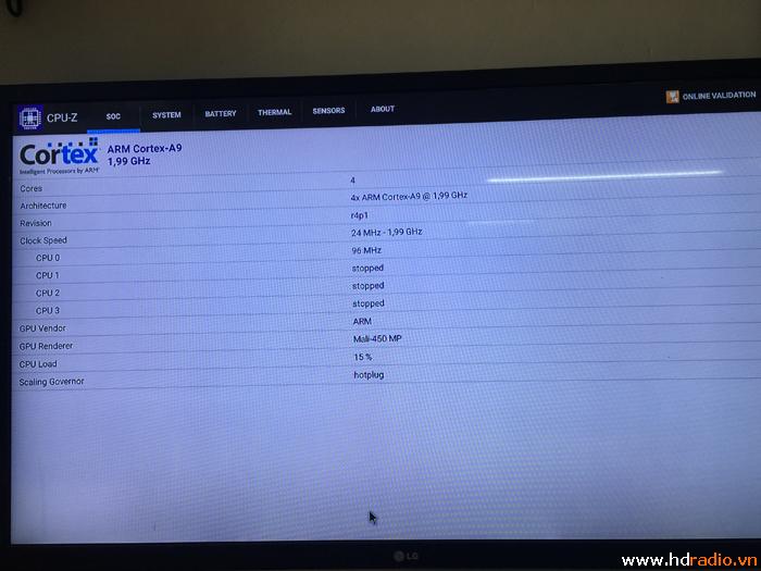 Đánh giá Android box tv M8S+ qua CPU-Z