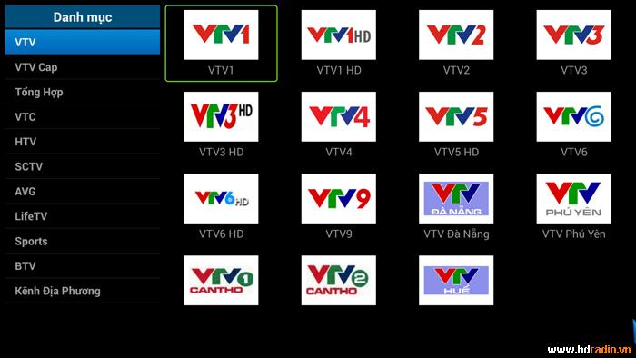 Xem tivi miễn phí với trên 200 kênh truyền hình trong và ngoài nước