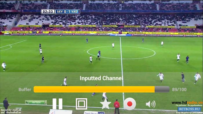 Xem bóng đá trực tiếp qua SOPCAST hoặc K+ đối với mạng FPT độ phân giải HD - FULL HD siêu nét