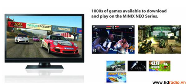 MINIX NEO G4 Cấu Hình Khủng-ứng dụng giải trí