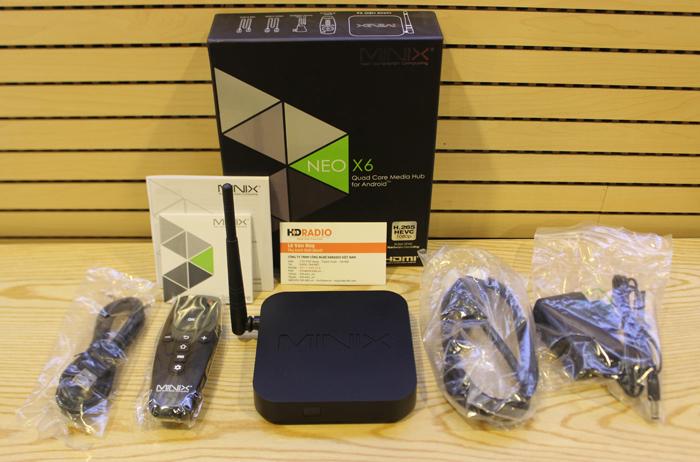 Android box Neo X6 với đầy đủ phụ kiện
