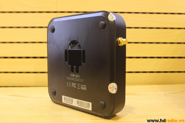 Chiều dọc mặt đáy của Box Tivi Minix Neo U1