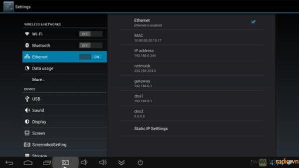 Android Box Minix Neo X5 Mini-cài đặt mạng